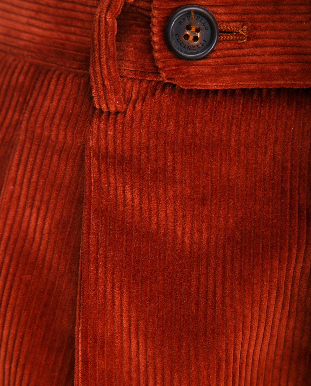Brunello Cucinelli Терракотовые брюки ME233S2100 изображение 3