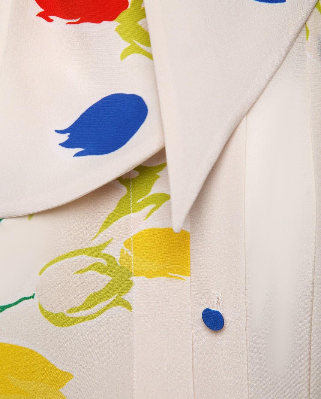 Valentino Блуза из шелка  PB3AB09Z3P2 изображение 5