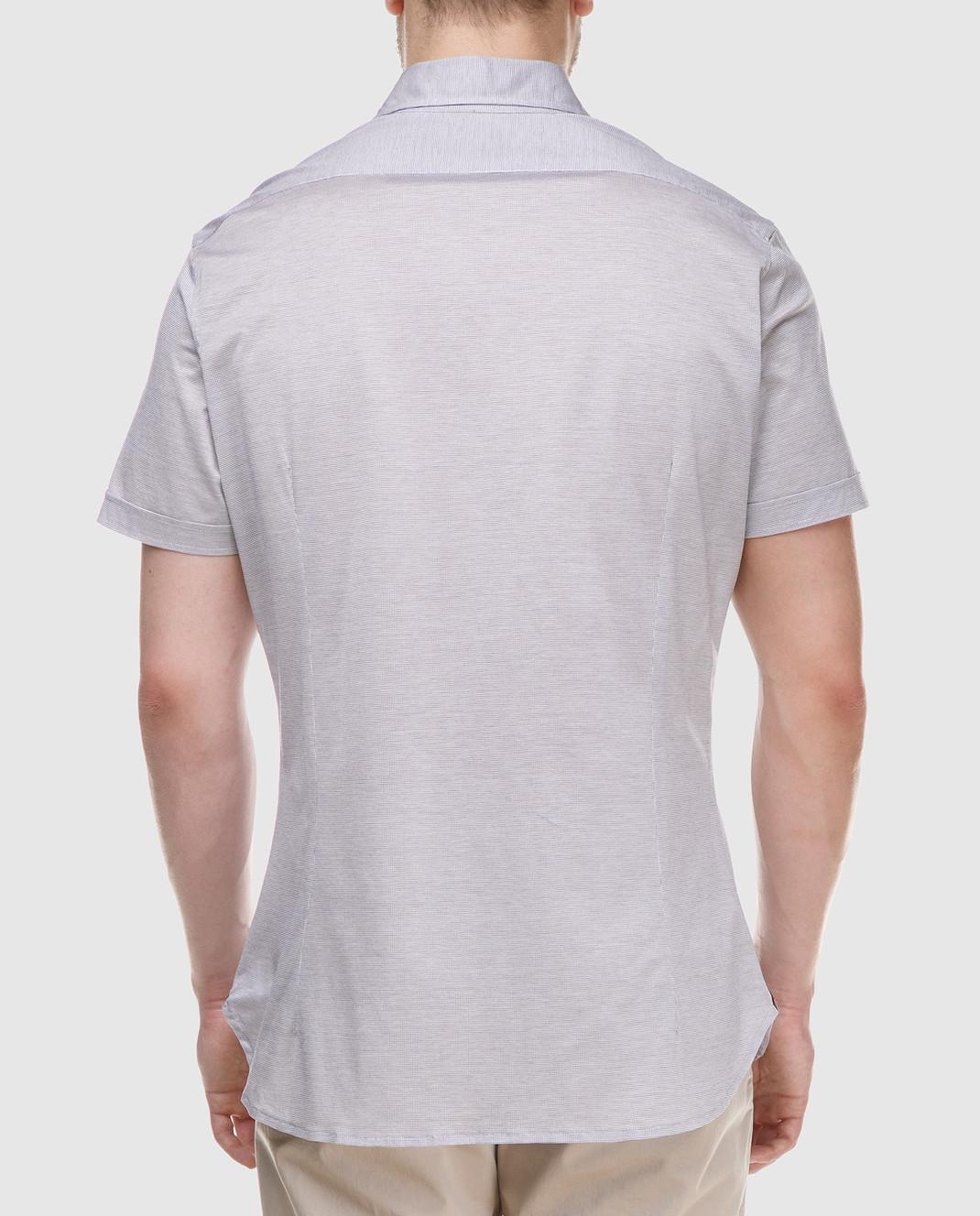 ISAIA Серая рубашка CAJ005J0049 изображение 4