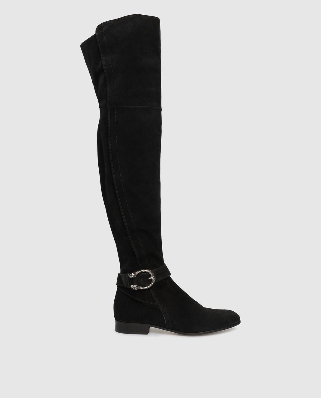 Gucci Черные замшевые ботфорты 432083CXZ10