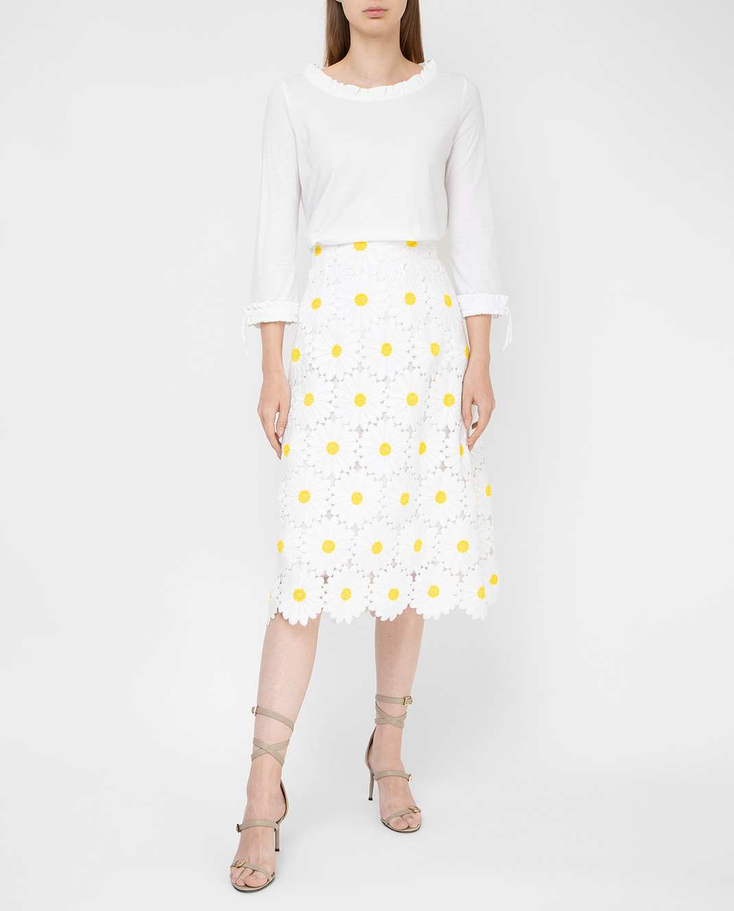 Dolce&Gabbana Белая юбка F4AHETHLMHE изображение 2