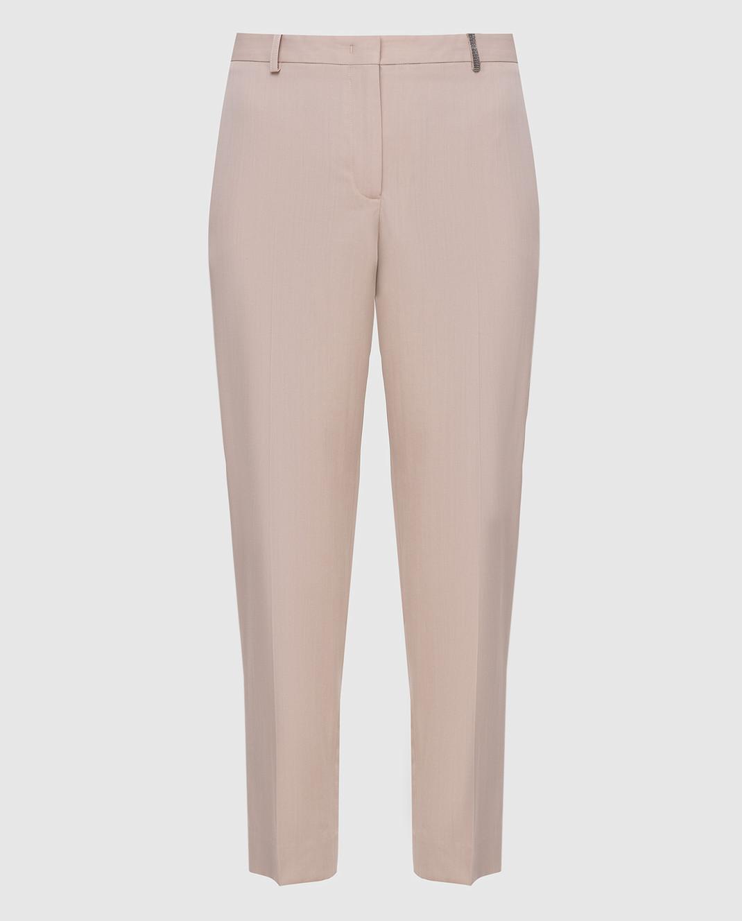 Fabiana Filippi Бежевые брюки из шерсти изображение 1