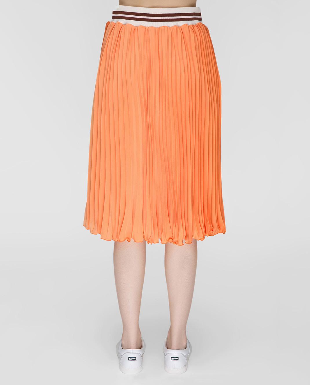 Blugirl Оранжевая юбка-плиссе 3321 изображение 4
