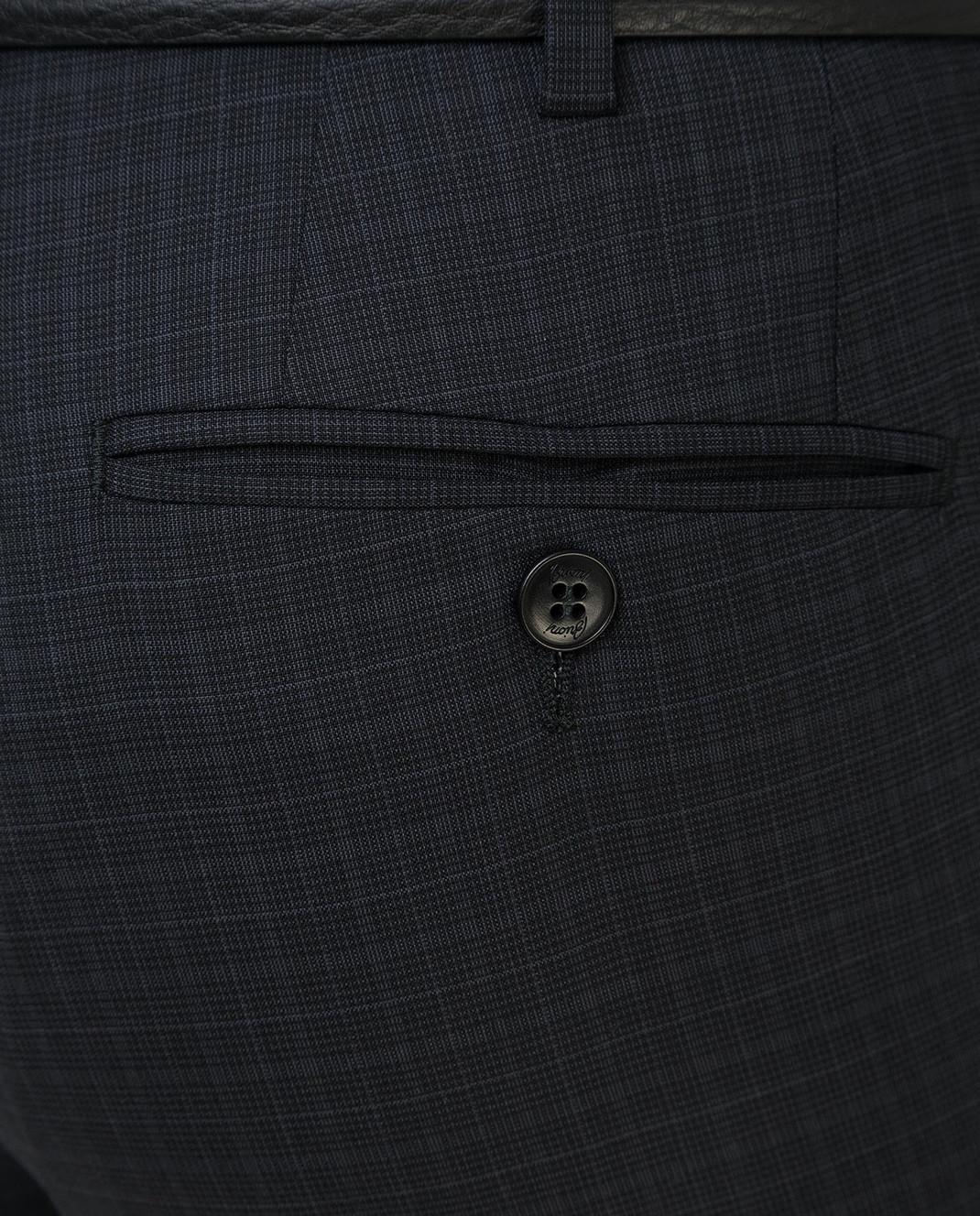 Brioni Темно-серые брюки из шерсти RPL80LP5A71 изображение 5