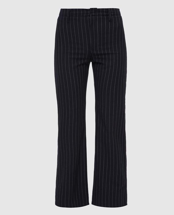 Темно-синие брюки