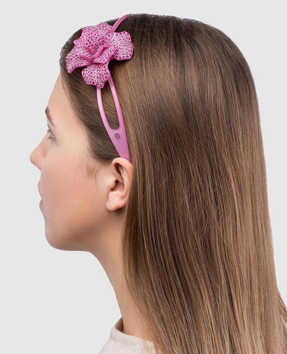 Розовый обруч для волос AcapulcoJungle hover