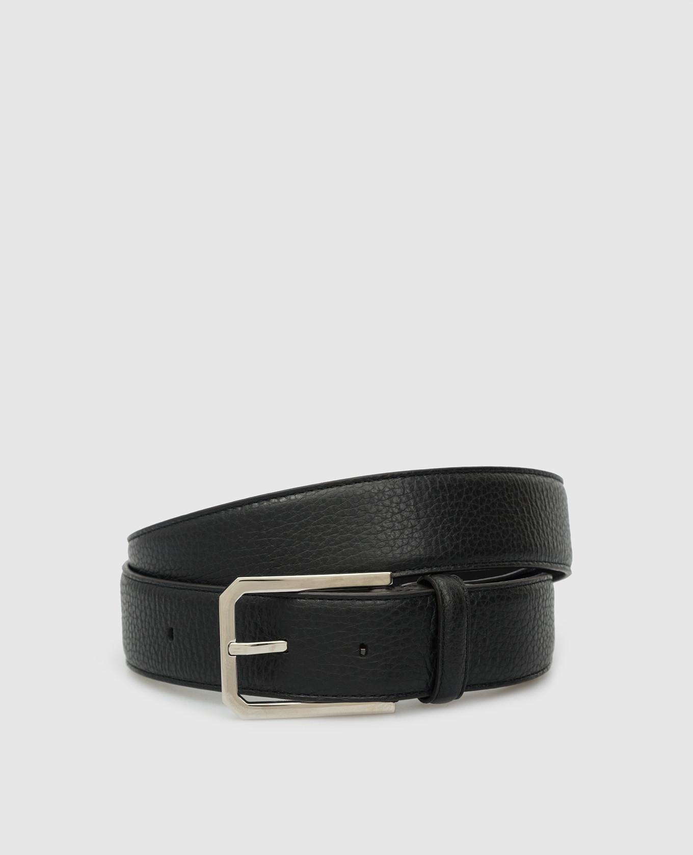 Черный кожаный ремень Brenta MooRER