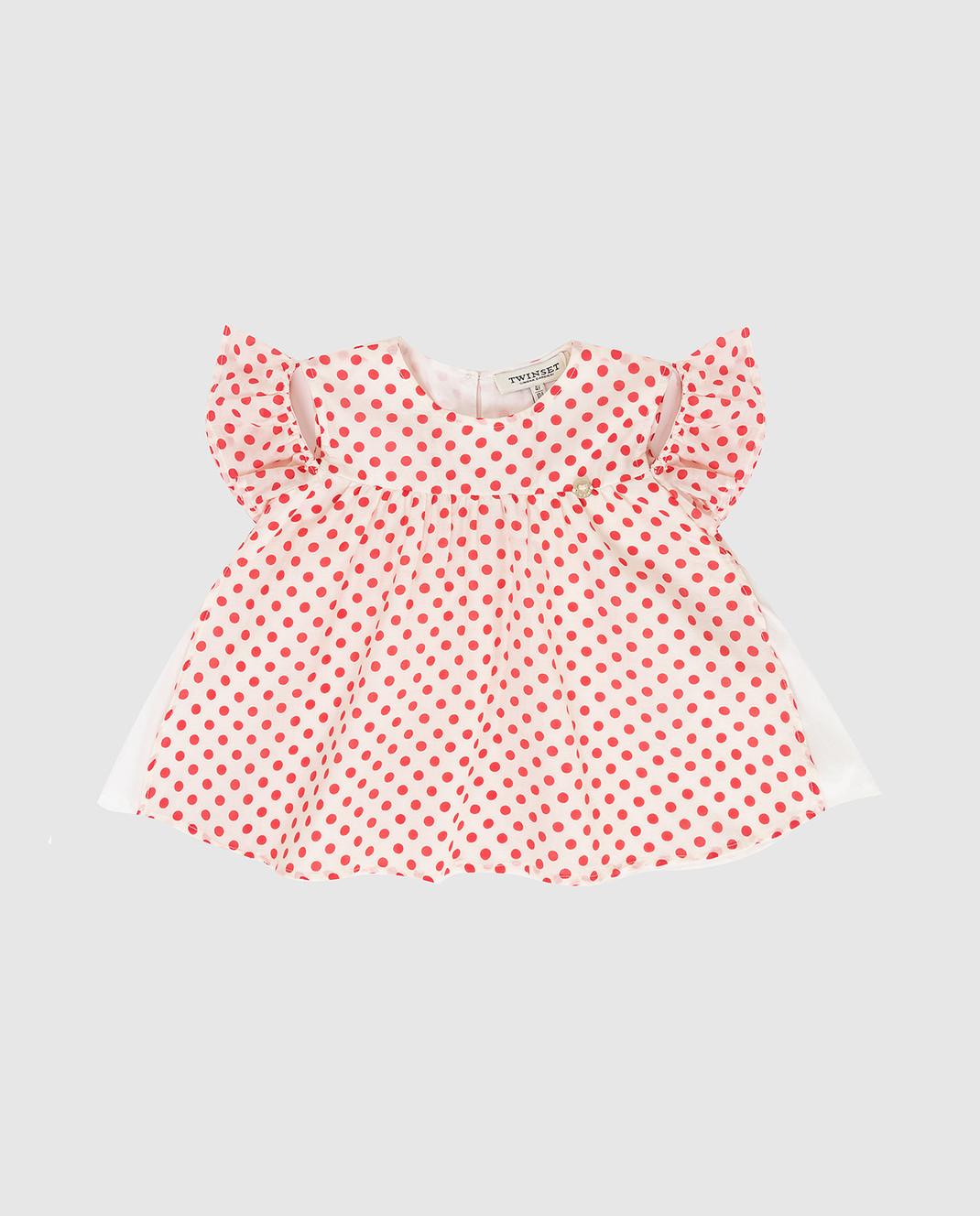 Twin Set Детская белая блуза FS82PN
