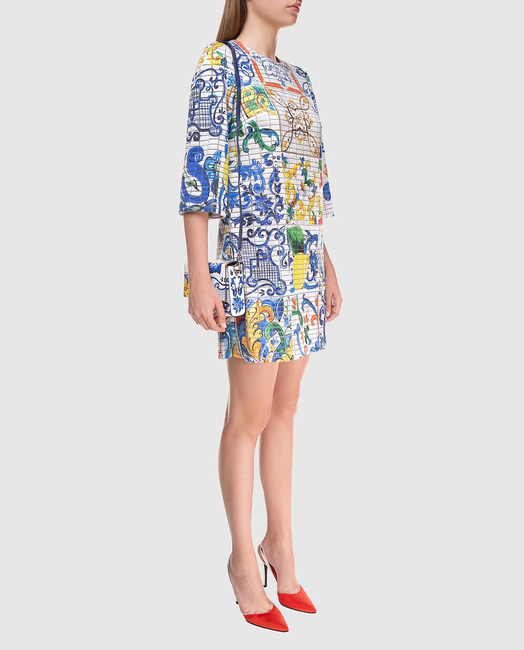 Dolce&Gabbana Платье из шелка F69U8THSMRW изображение 2