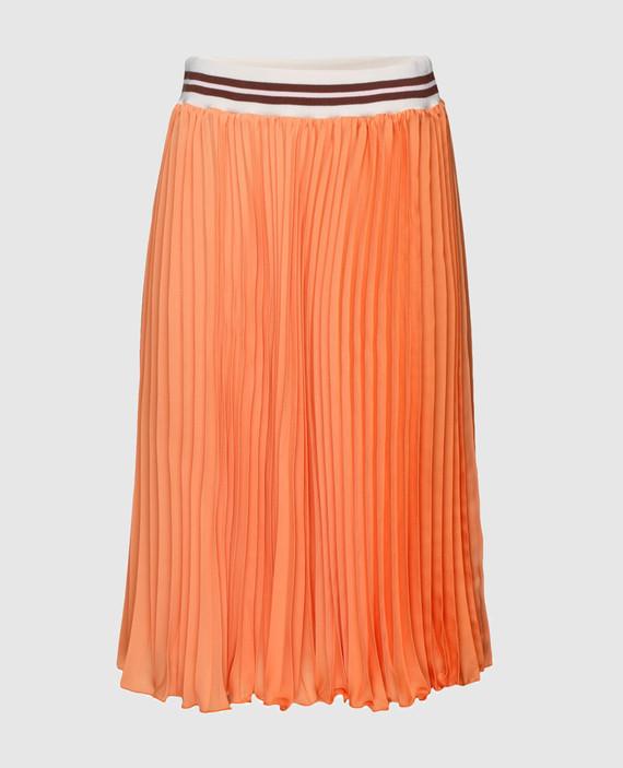 Оранжевая юбка-плиссе