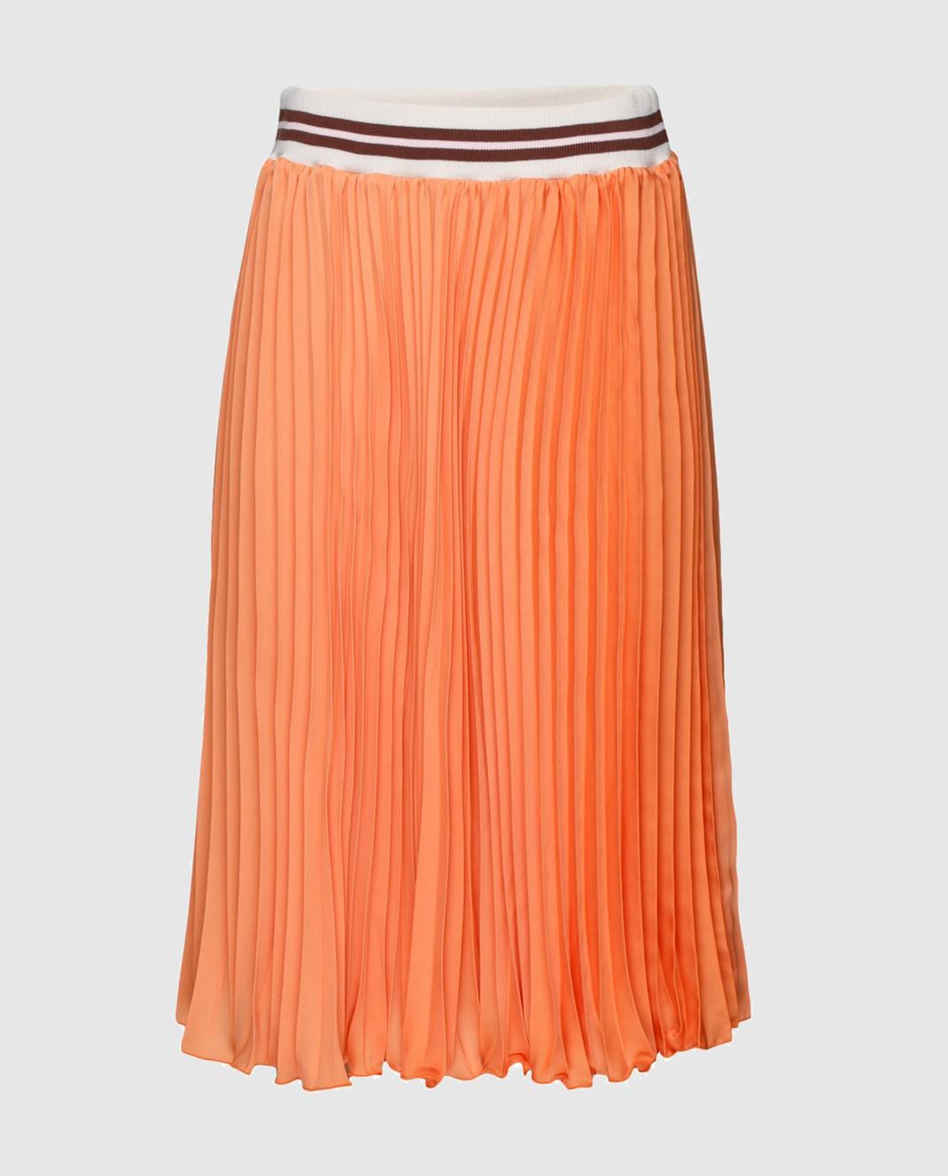 Blugirl Оранжевая юбка-плиссе 3321