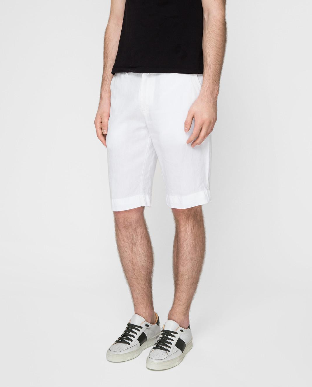 Kiton Белые шорты UPNJSBJ07R66 изображение 3