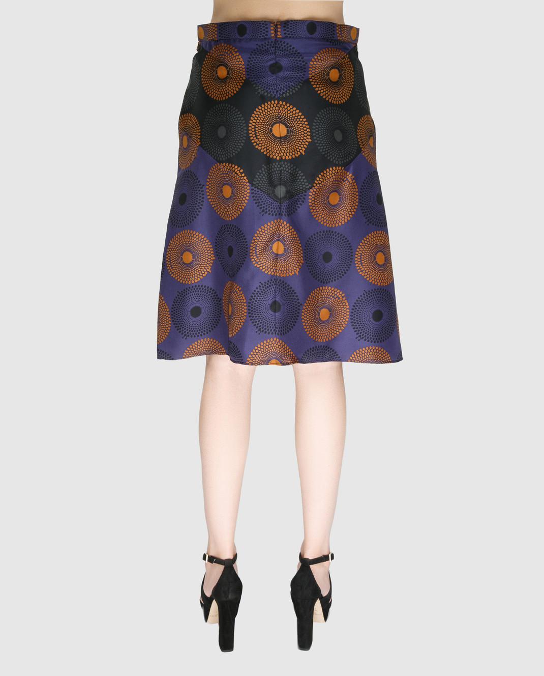 NINA RICCI Синяя юбка из шелка 17PCJU008SE1249 изображение 4