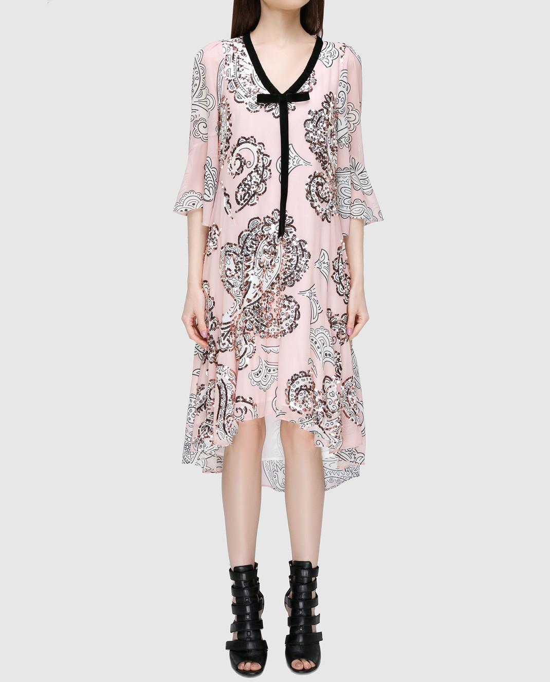 Manoush Персиковое платье ME7PPRO изображение 3
