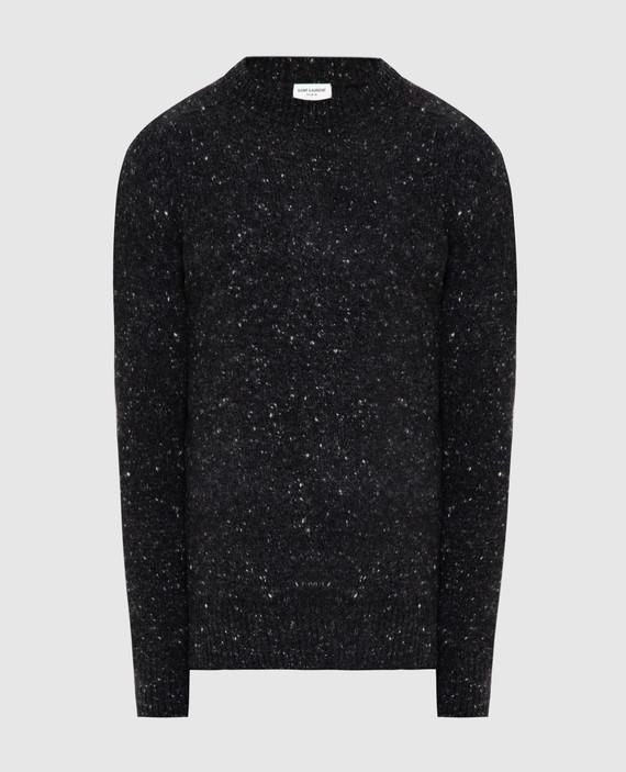 Темно-серый свитер из шерсти и кашемира