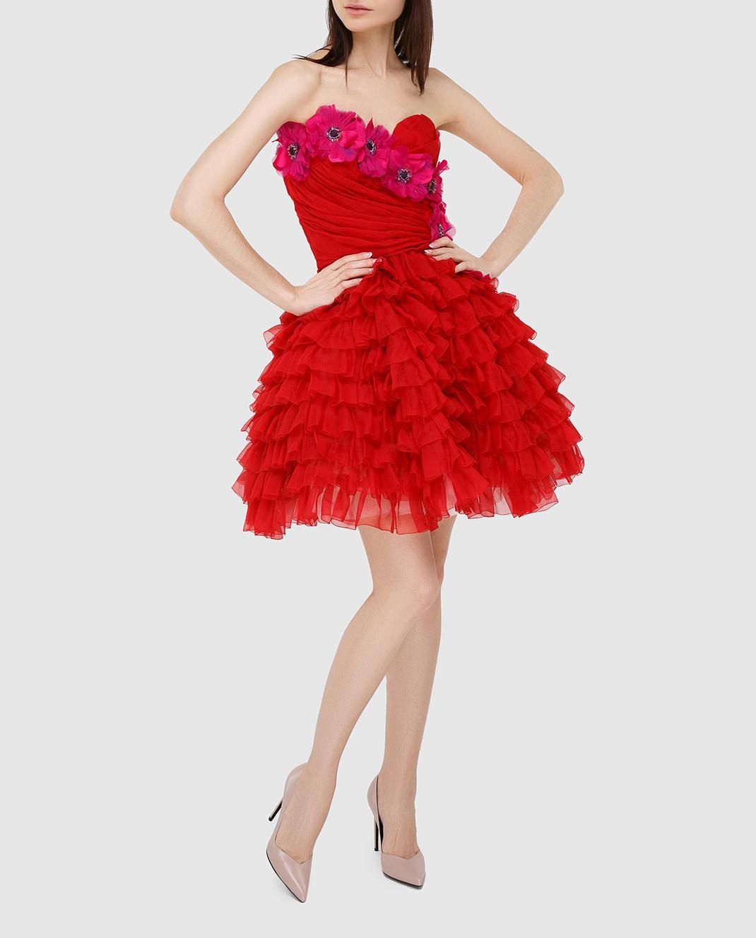 Dolce&Gabbana Красное платье F62R5ZFU1KK изображение 2