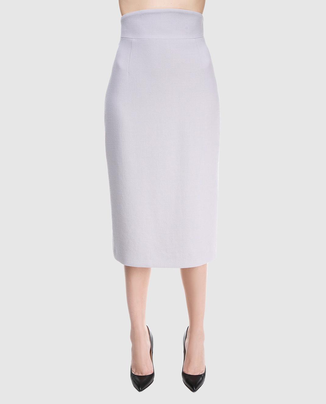 A la Russe Светло-серая юбка 371004 изображение 3