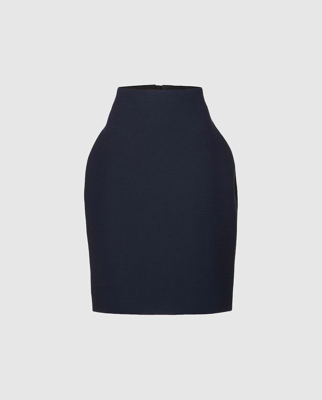 NINA RICCI Темно-синяя юбка 18PCJU002C00864