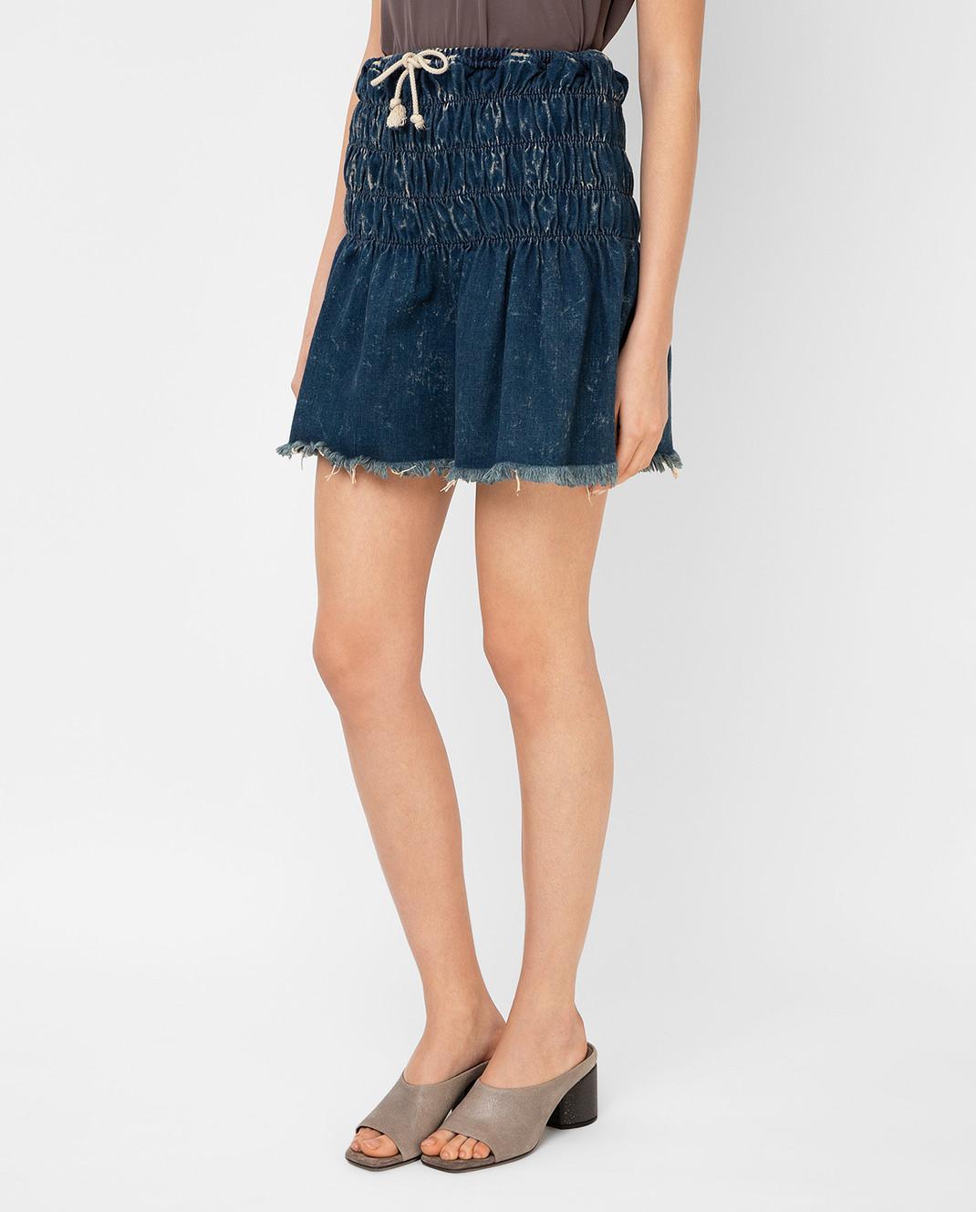 Chloe Темно-синяя джинсовая юбка 16EDJ02 изображение 3