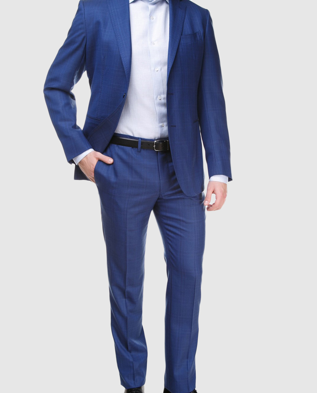 Stile Latino Синий костюм из шерсти AULUCA20A21SWA14 изображение 2