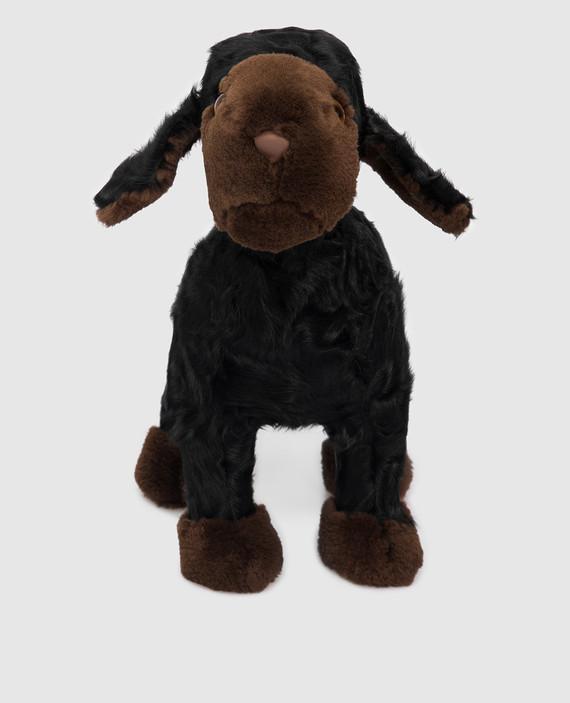 Детская черная игрушка овечка