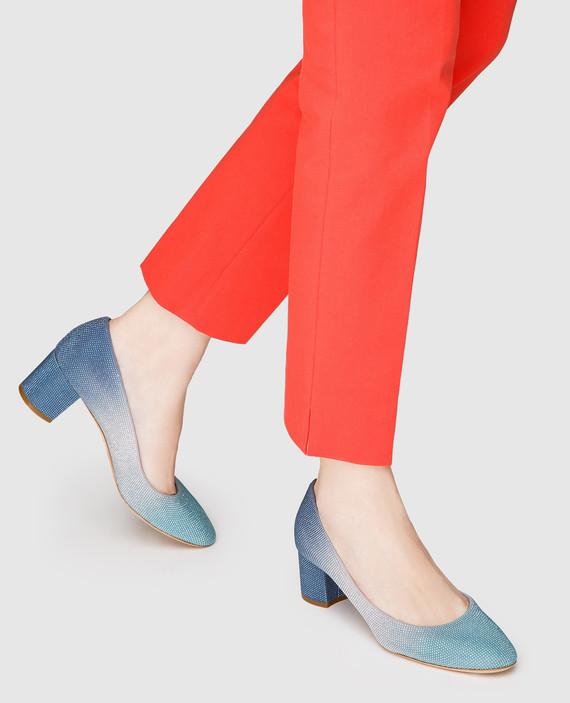 Синие кожаные туфли hover
