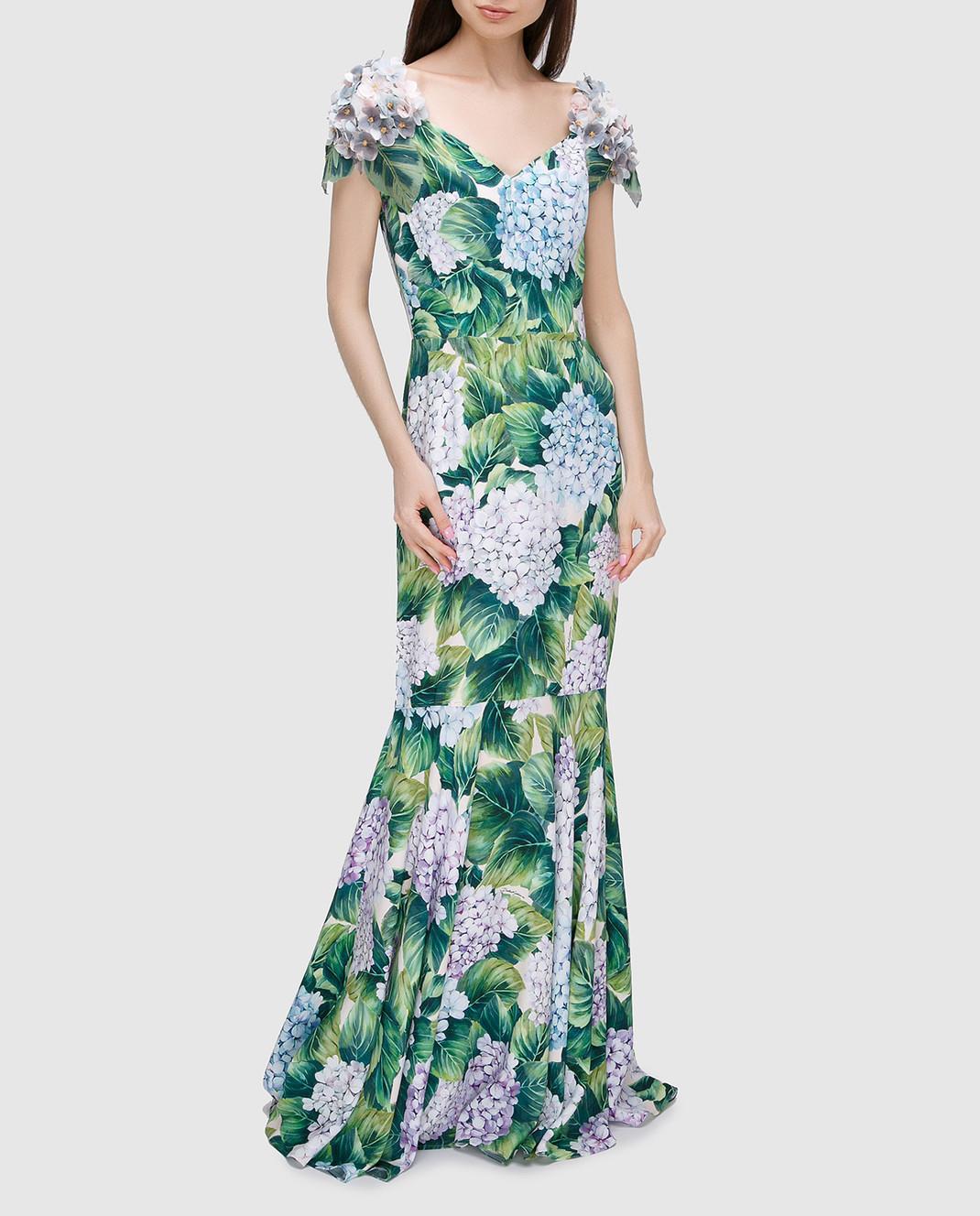 Dolce&Gabbana Зеленое платье изображение 2