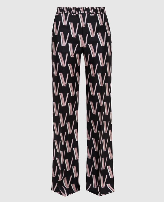 Черные брюки из шелка