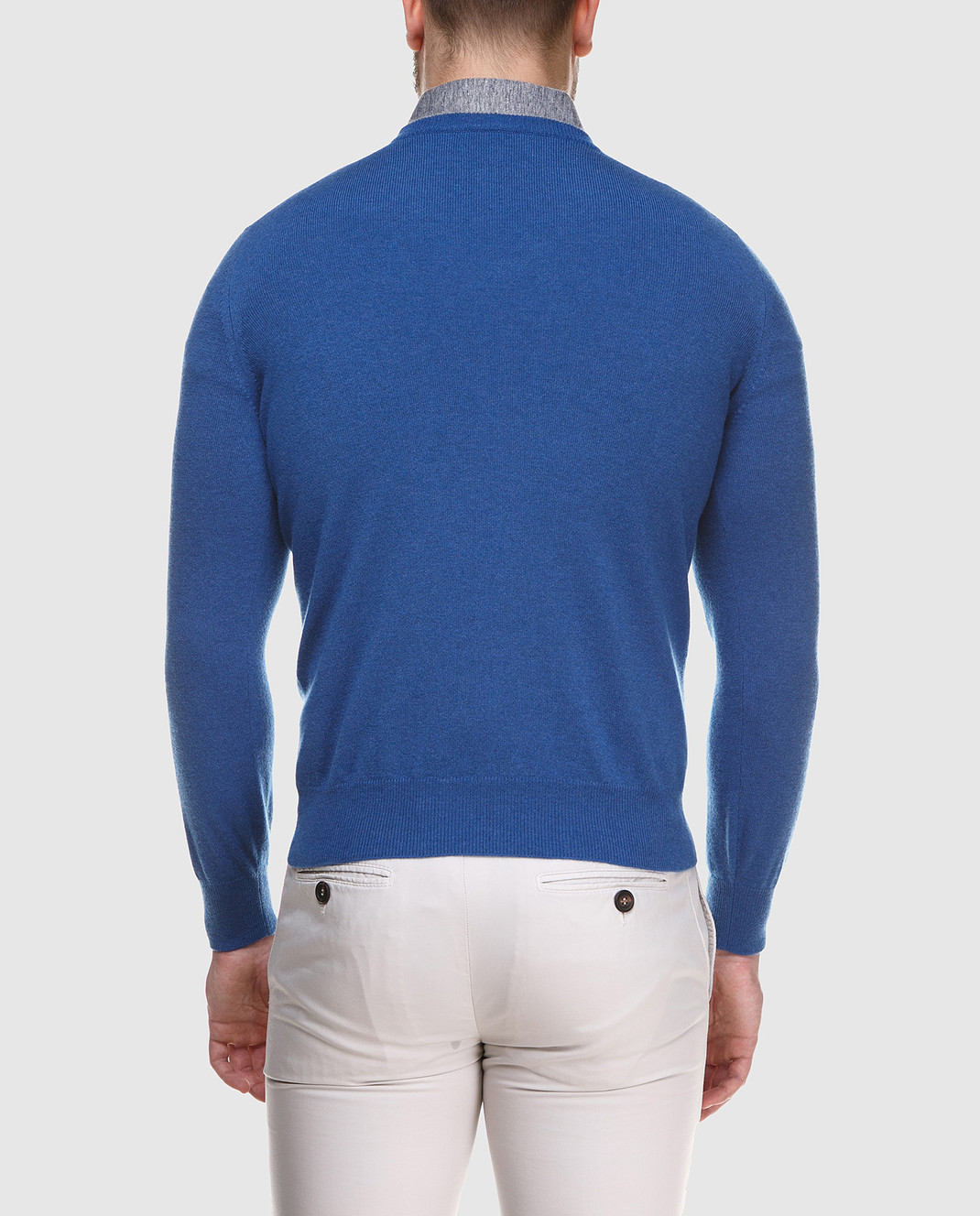 Brunello Cucinelli Синий пуловер M2200162 изображение 4