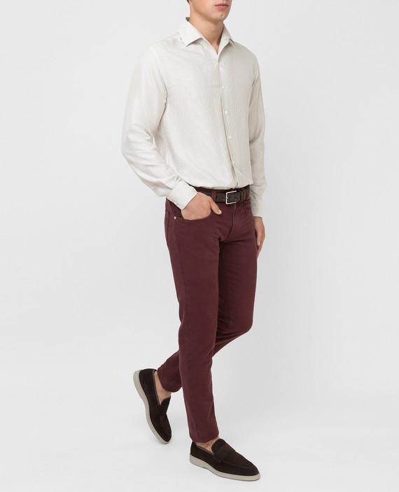 Бордовые джинсы hover