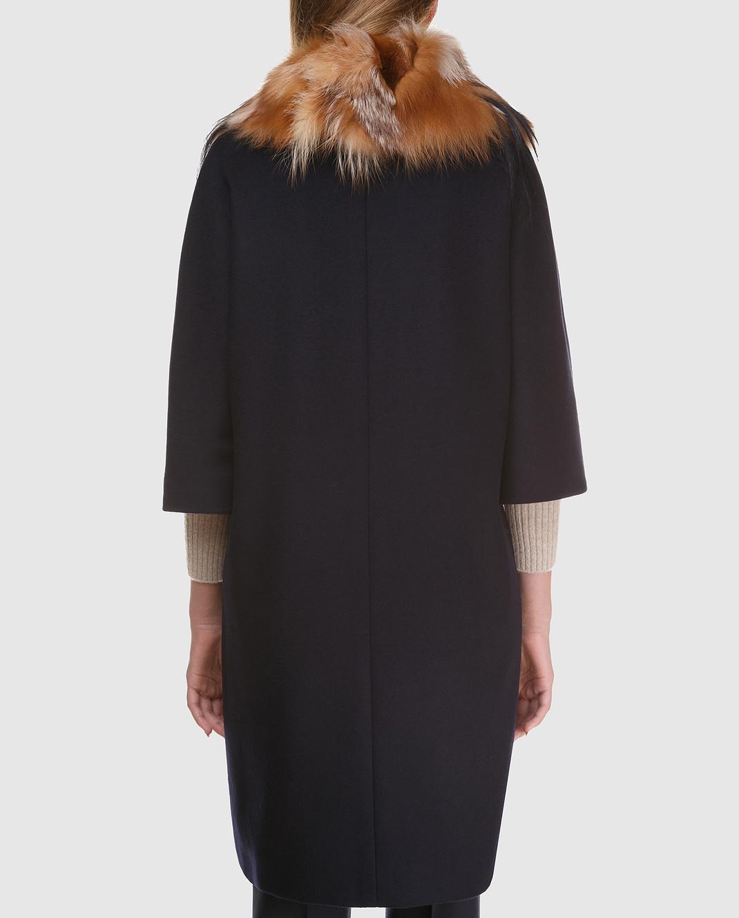 Heresis Пальто из шерсти со съемным воротником из меха лисы M3795FOX изображение 4