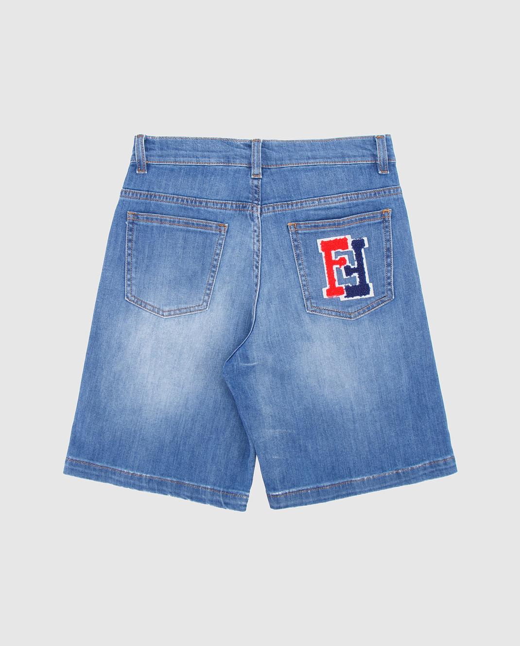 Fendi Детские голубые джинсовые шорты JMF1261012 изображение 2