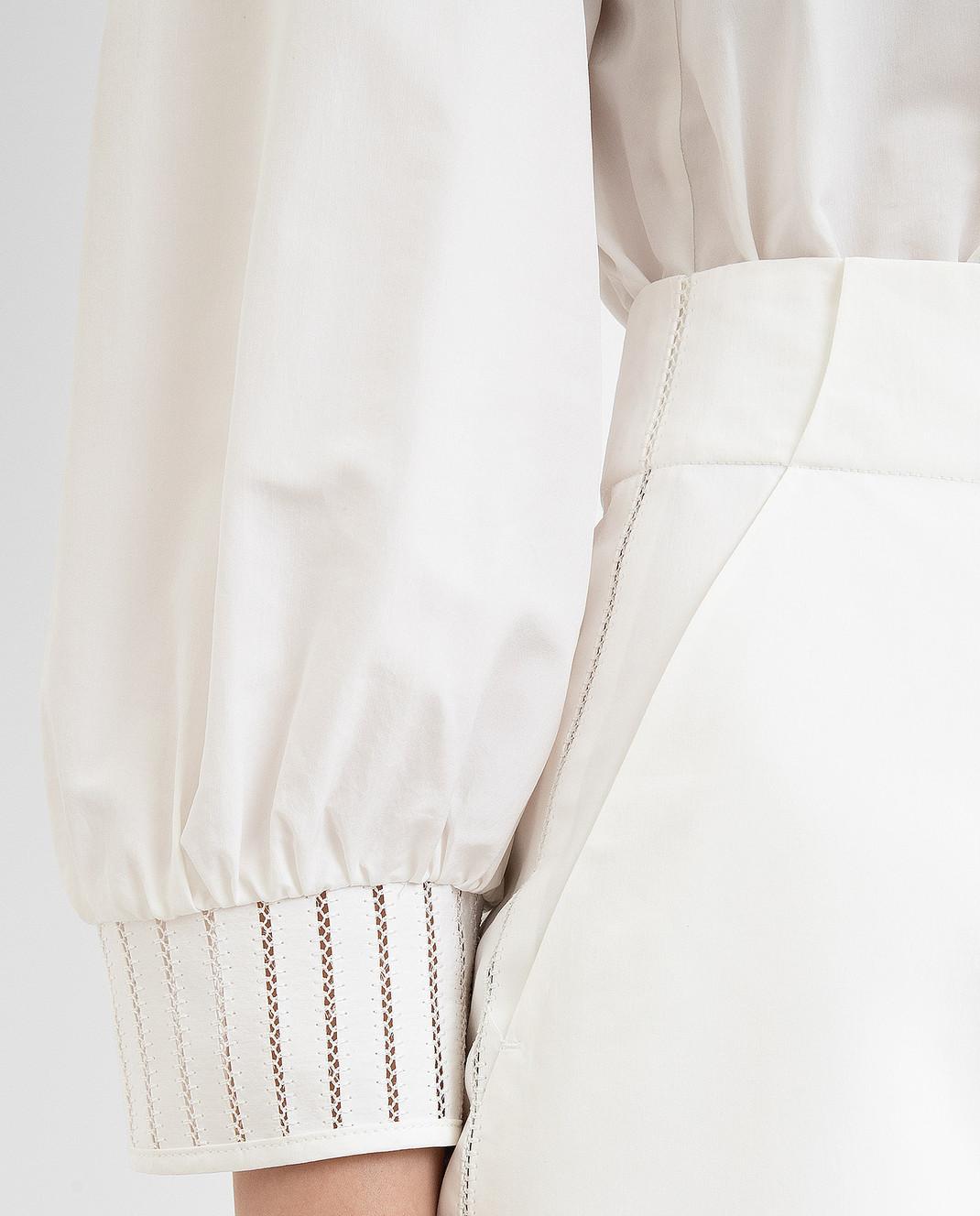 Loro Piana Белое платье F1FAI0540 изображение 5