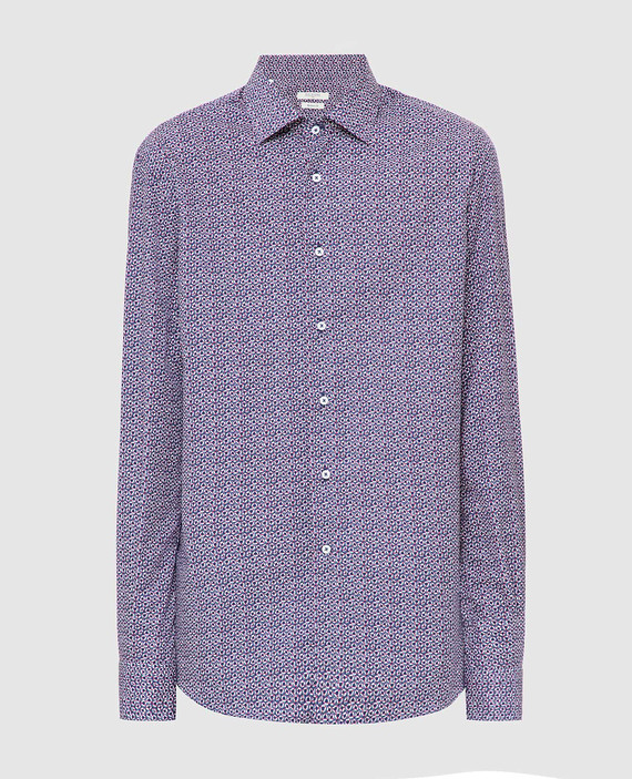 Темно-синяя рубашка