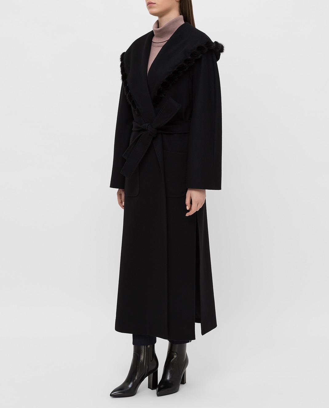 Heresis Черное пальто из шерсти M33130VIF260 изображение 3