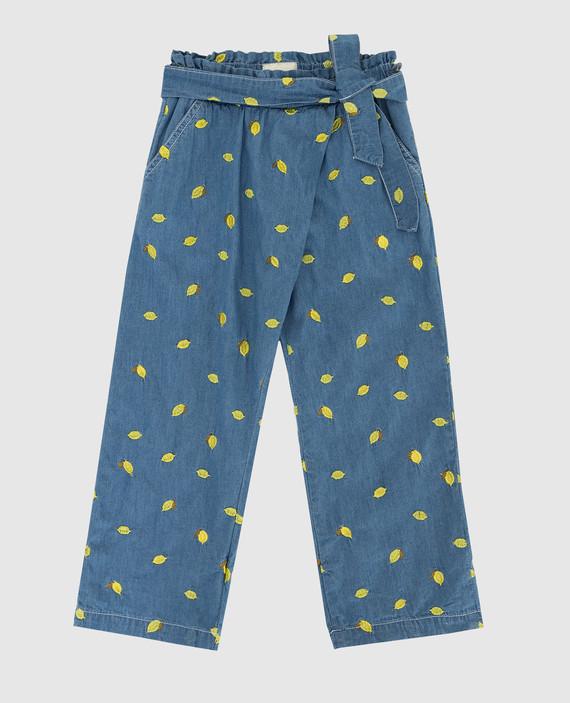 Детские синие брюки