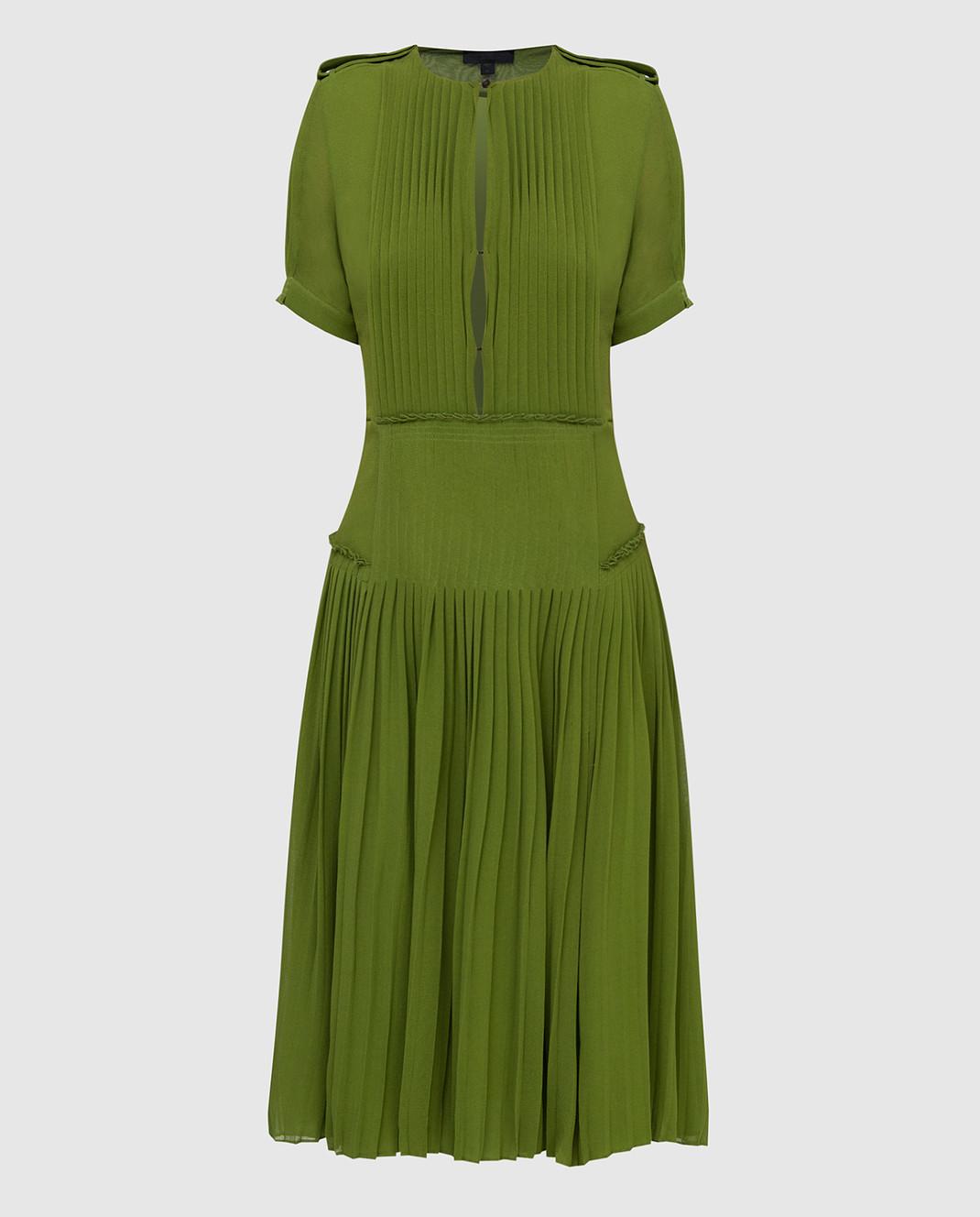 Burberry Зеленое платье из шелка изображение 1