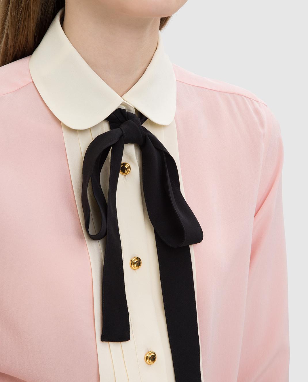 Gucci Розовая рубашка из шелка 544892 изображение 5