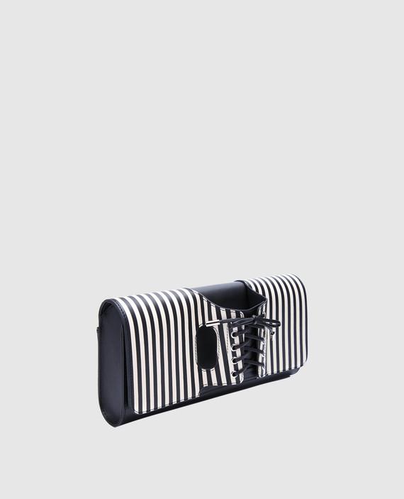 Черный клатч из лакированной кожи Le corset hover