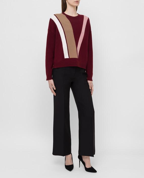Бордовый свитер из шерсти и кашемира hover