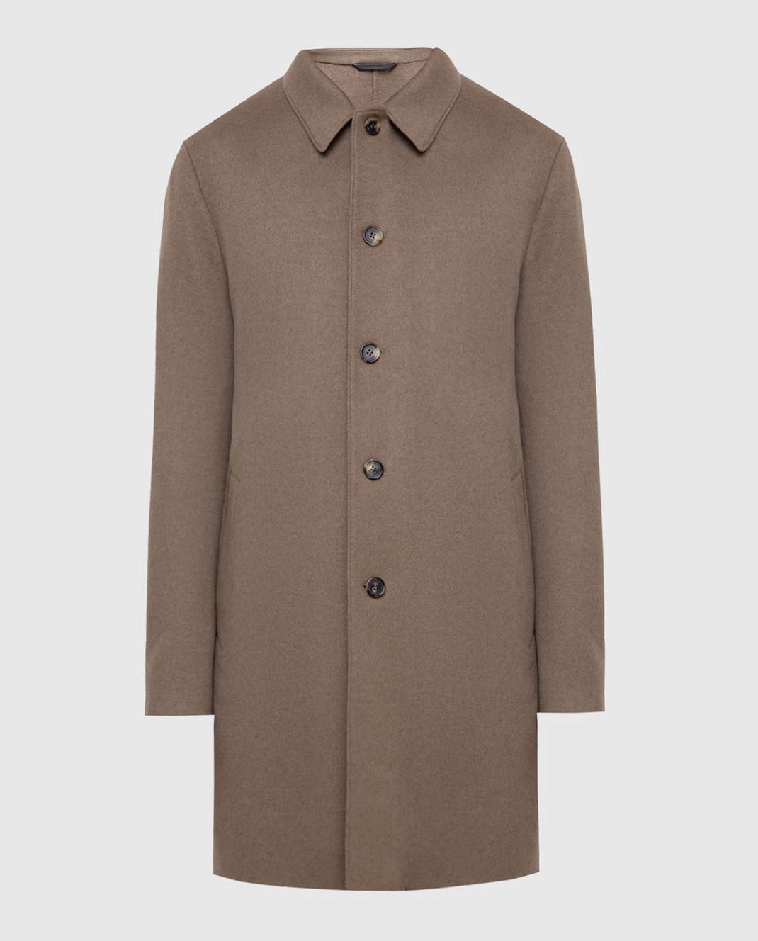 Loro Piana Темно-бежевое пальто из кашемира F1FAI2410