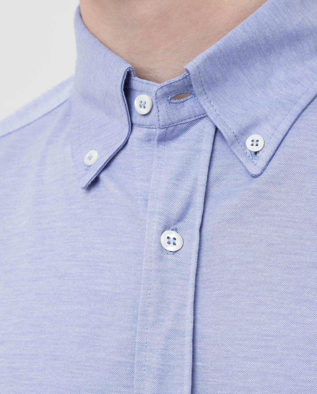 Brunello Cucinelli Голубая рубашка MTS406676 изображение 5