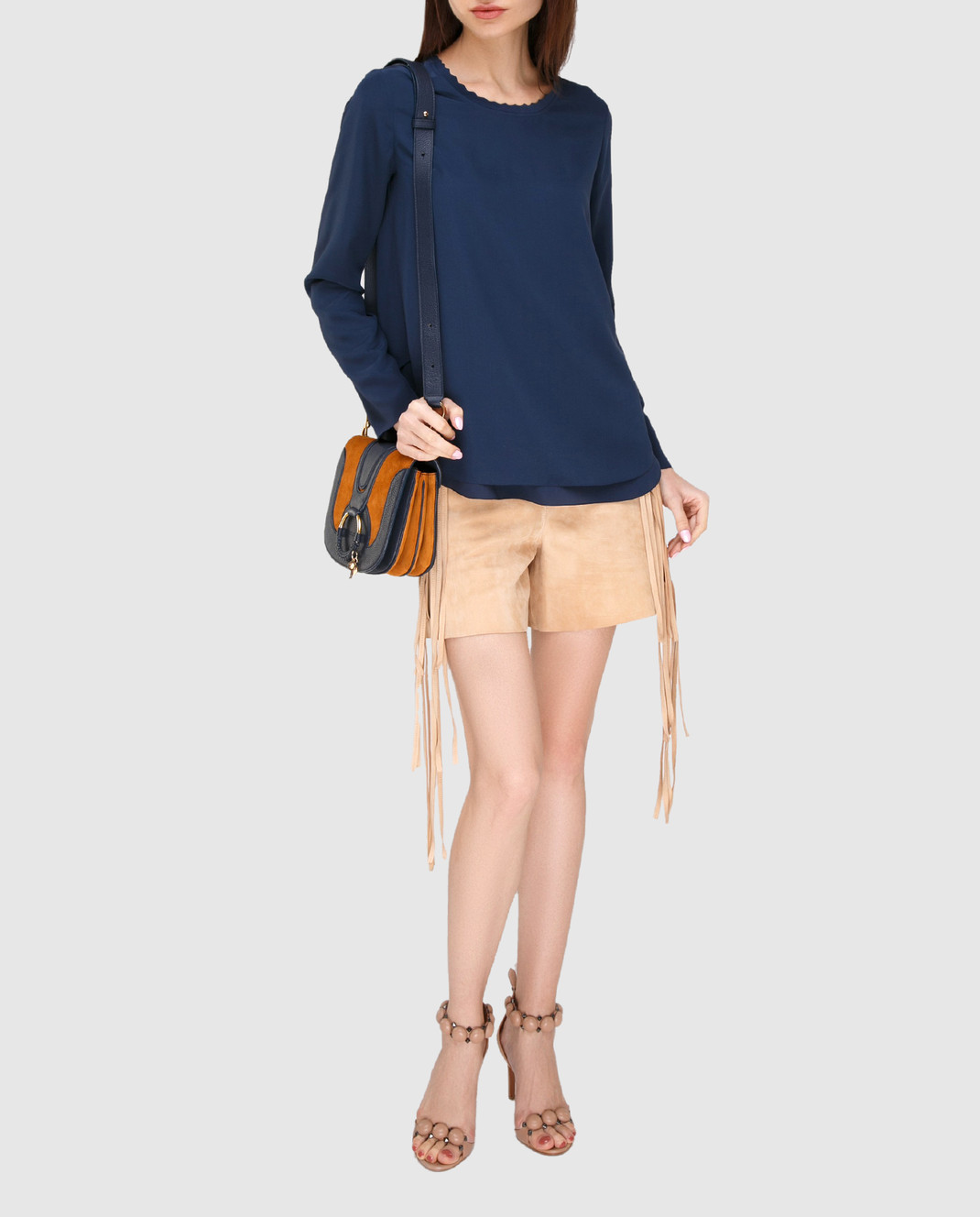 Chloe Синяя блуза 17SHT31 изображение 2