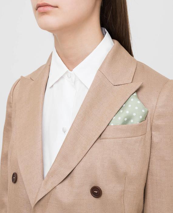 Зеленый платок из шелка hover