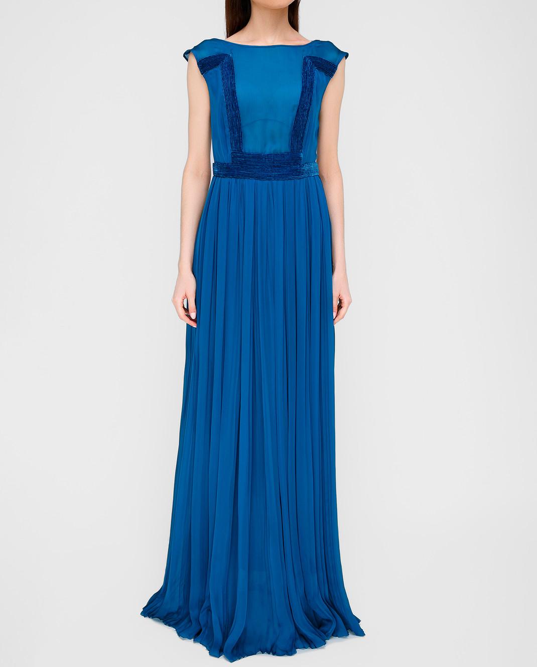 LARUSMIANI Синее платье из шелка 077581 изображение 3