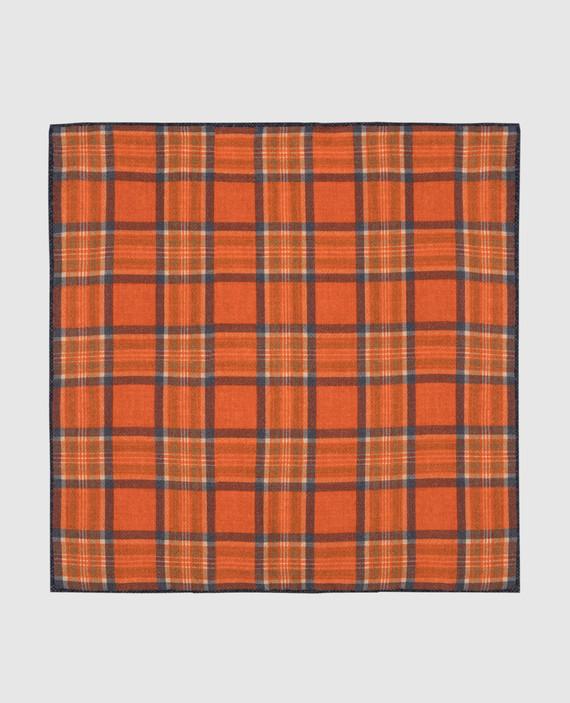 Оранжевый платок из шерсти