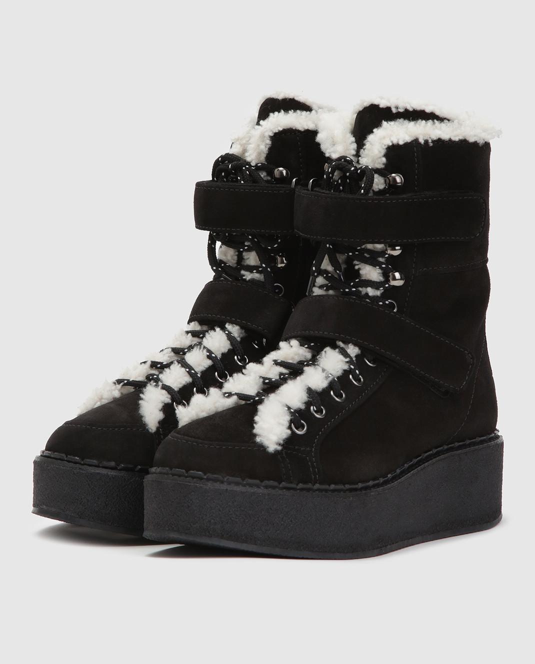 Moncler Черные замшевые ботинки 20482 изображение 3