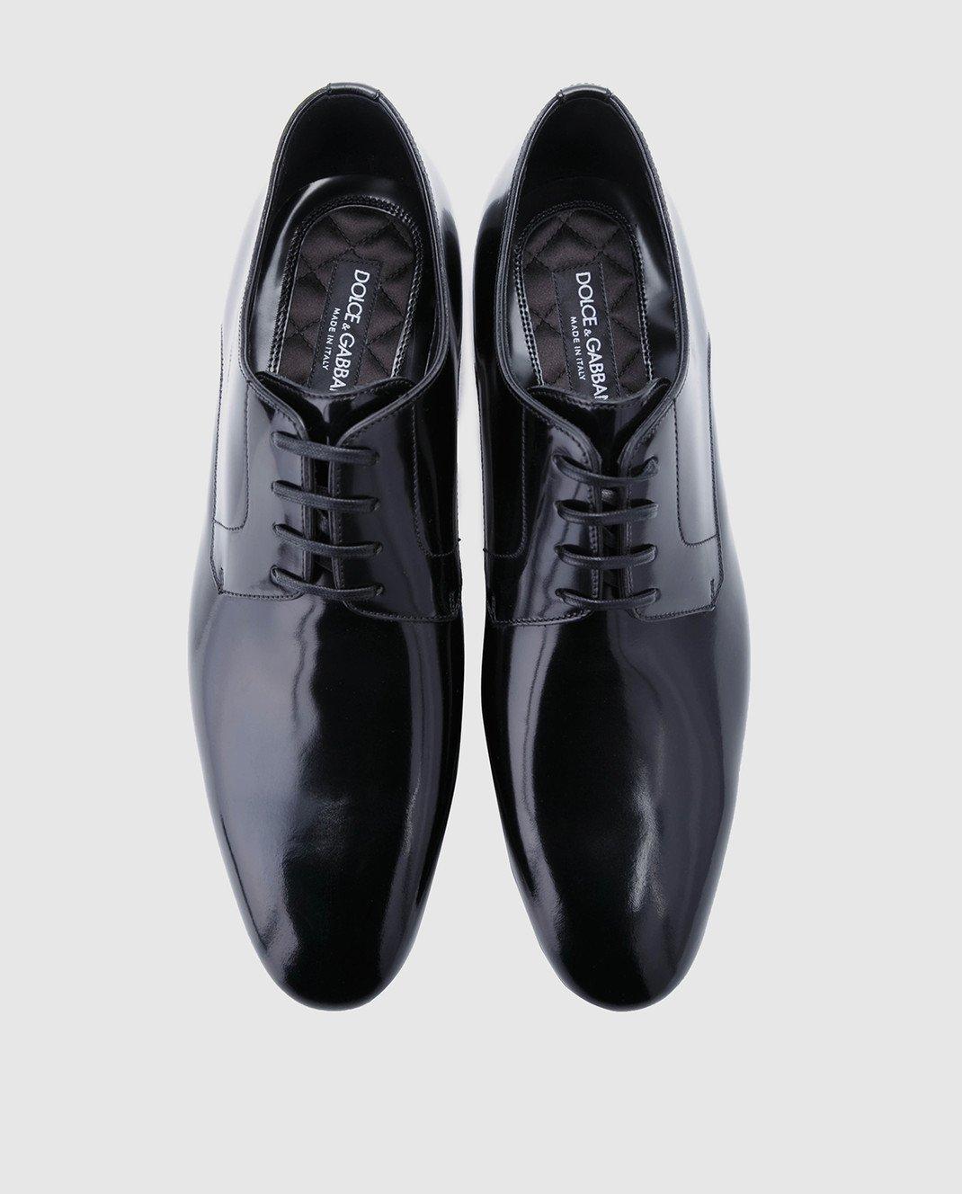 Dolce&Gabbana Черные кожаные дерби A10379A1203 изображение 4