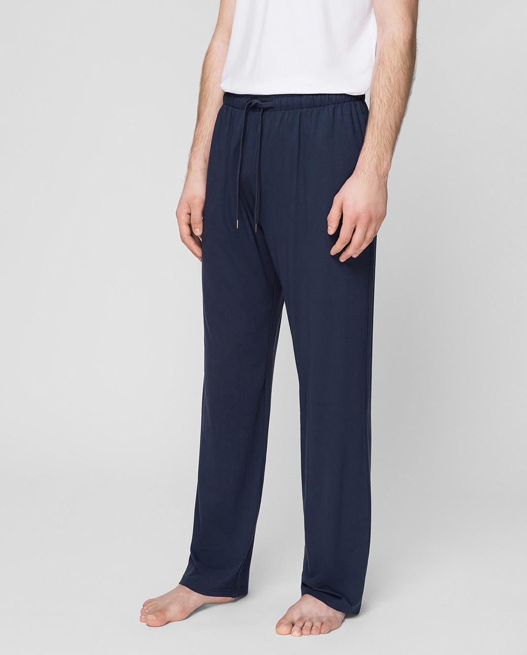 Derek Rose Темно-синие брюки изображение 3