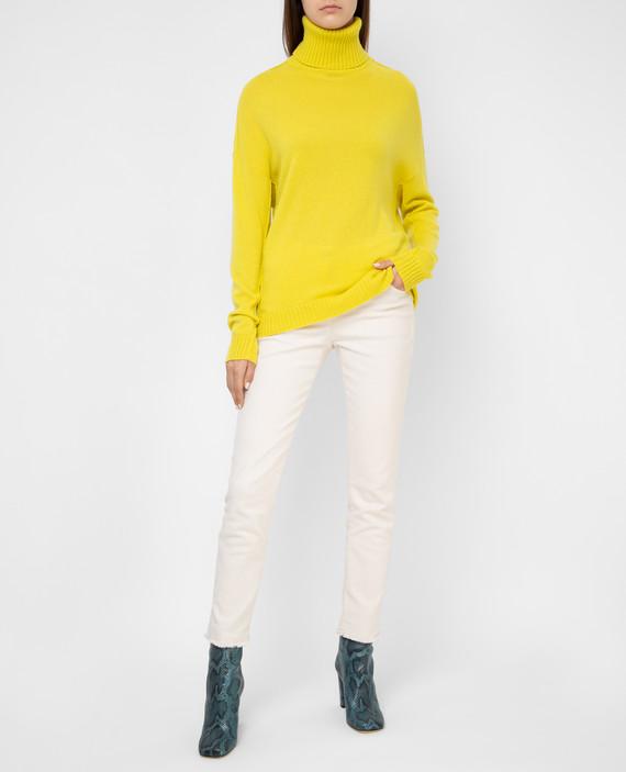 Желтый свитер из шерсти и кашемира hover